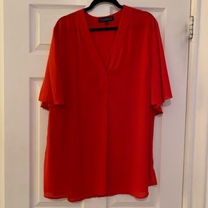Eloquii short sleeve red top